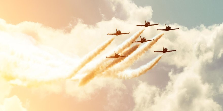 U.S. Air Force Planes in formation